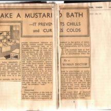 Take a Mustard Bath
