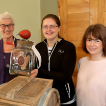 Margaret Marlow, Pauline Connolly and Deirdre McDonnell from Milltown at the Galway's Gastronomy Project launch organised by Galway County Heritage at Claregalway Castle | Photo by Hany Marzouk