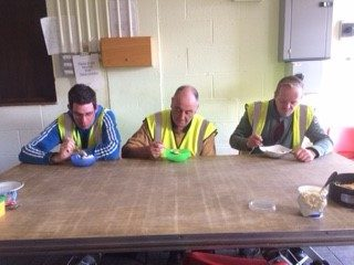 Finnian Kirrane (Lurgan), Pat Costello and Anthony Feehan enjoying the finished product | Deirdre McDonnell