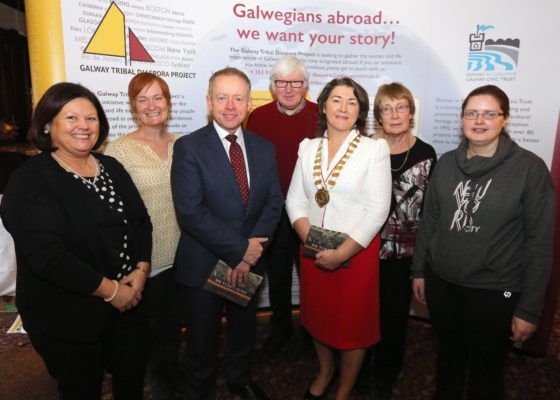 Anne Tierny president of old Tuam Society, Bernie Doherty Woodlawn Heritage Group, Minister of State Ciaran Cannon, Tony Murphy, Cathaoirleach Cllr. Eileen Mannion, Frances Murphy and Pauline Connolly | Hany Marzouk