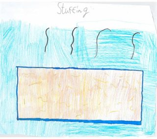 Stuffing | Drawing by Chloe Jennings