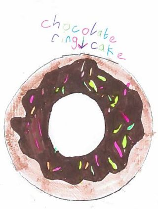 Chocolate Ring Cake | Drawing by Jessica Murphy