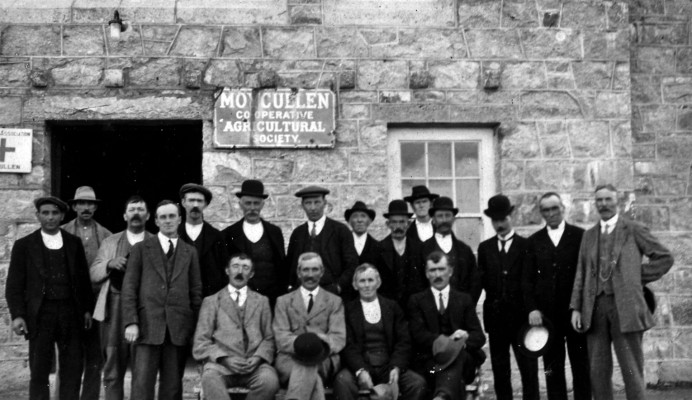 Outside the Co-Op c1918 | Photo Credit  Tommy Coyne / Kilkelly Collection