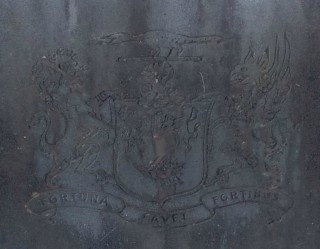 Close up of Seat inscriptions  | Photo Credit Moycullen Historical Society