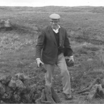 John Connolly at the bog on Mountain Road, Moycullen c1980 | Photo Credit Margaret Connolly Hackett