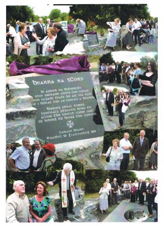 Unveiling of Plaque at Bearna na gCorp 2011 | Photo Credit Moycullen Historical Society