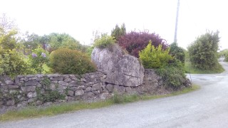 Cloch an Olla, now built into a boundary wall at Boithrin na Coille | Moycullen Historical Society
