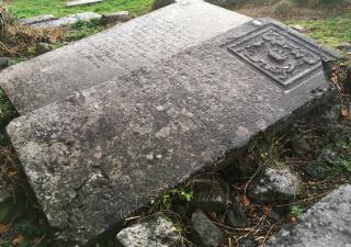 O'Flaherty Grave at the tSean Reilig, Homefarm, Moycullen. | John Tierney