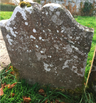 Gravestone of Patrick Howard, Stonecutter, at the tSean Reilig, Homefarm, Moycullen | John Tierney