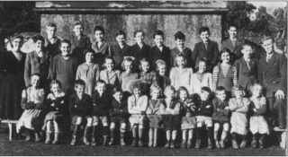 With Students outside Loughwell School 1949/1950 | Maisie Lydon