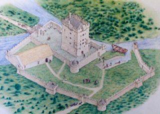 Diagram of Aughnanure Castle c1500s