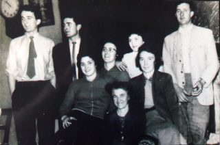 Siblings John, Jim, Willie, Julia, Mary, Margaret, Bridgie with their mother Julia in 1956 | John Conneely
