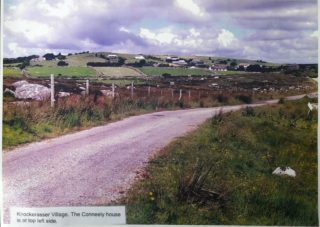 Knockarasser Village.  The Conneely house is at top left of photo | John Conneely