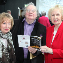 Claire O'Flaherty, City Arts Officer James Harold and Cllr. Terry O'Flaherty