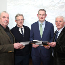Minister of State Sean Kyne TD with guest speakers Seán Ó Coistealbha, Dr. Paul Naessens and Hugh Gallagher