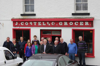 With neighbours and friends at Costello's Pub Skehana | Photo: Jimmy Laffey
