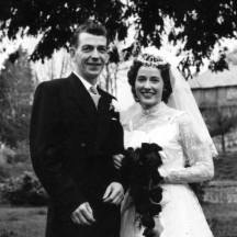 Michael and Eithne Garvey, Guilka, on their Wedding Day.