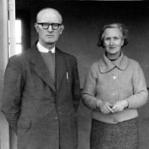 Former teachers at Garbally N.S Miko McElwain and Nancy Snee taken on her retirement in the late 1960s  | Robert Snee