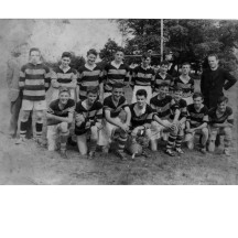 Galway Juvenile Champions Under 16 - 1958. On the right is Fr. Paddy Costello, Carramore.