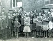 Old Garbally School photograph - now Skehana Community Centre located in Esker townland.