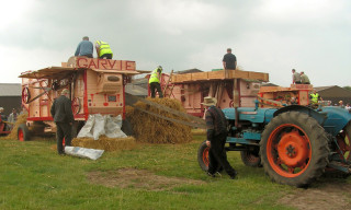 Threshing day.