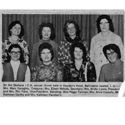 Members of Skehana ICA at Haydens Hotel, Ballinasloe, | Photo courtesy of Connacht Tribune
