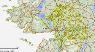 Map of Children's Burial grounds In Co. Galway