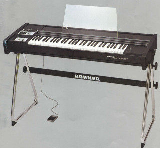 My Hohner Analogue String Machine which I owned in the early 1980's. It gave a really full sound. Really wish I still had it as the new digital keyboards will never come close to it. It also sat nicely on top of the Yamaha Twin Manual Organ but it was really, really heavy which was part of the reason I sold it when I bought the YAMAHA DX-7. | © Gerry Costello