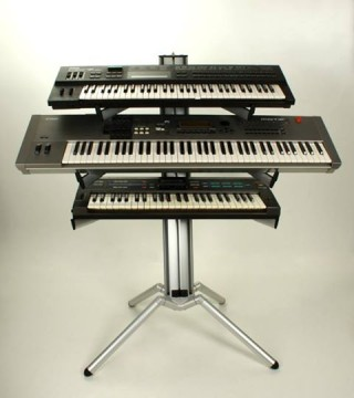 My present set of Keyboards. A YAMAHA MOTIF 7, YAMAHA DX-7 and the CASIO 1000 | © Gerry Costello