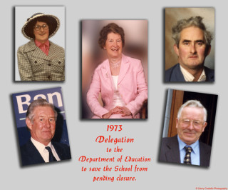 The parent delegation that met with Government officials in 1973 when the school was earmarked for closure and amalgamation. This was a great achievement for them at the time as there seemed to be little support for them from the then school manager and board chair who seemed to favour the closure of Garbally and it's amalgamation with an even smaller school with less potential for expansion and road access in Ballinruane. | © Gerry Costello Photography