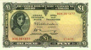 One Pound Note | © Central Bank Of Ireland