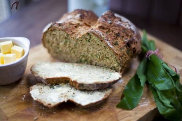 Garlic Irish Soda Bread