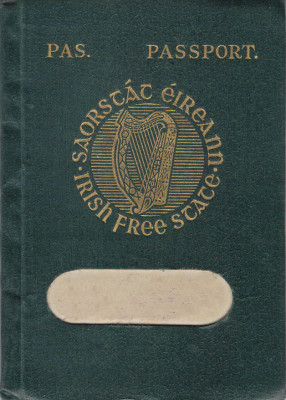 Irish Passport in 1927