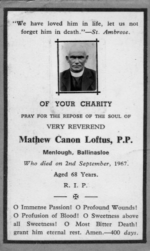 In memory of Fr Loftus | © Copyright Control