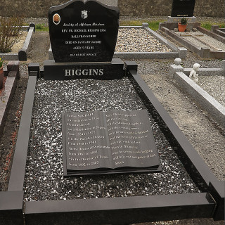 The final resting place and Headstone of Fr. Michael Higgins. | © Gerry Costello Photography