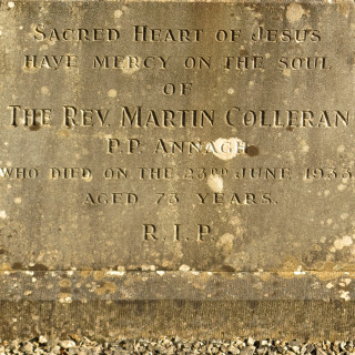 The inscription on the Headstone of Fr Martin Colleran. | © Gerry Costello Photography