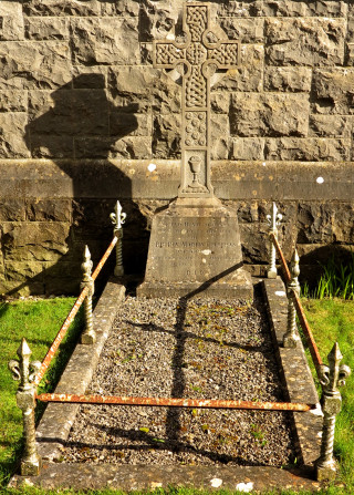 The final resting place and headstone of Fr Martin Colleran in Ballyhaunis Church Grounds | © Gerry Costello Photography