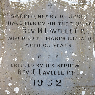 Fr Matt Lavelle's Headstone Inscription. | © Gerry Costello Photography