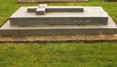 The Final resting of Fr Thomas Crean-Lynch at Kilkerrin Church.
