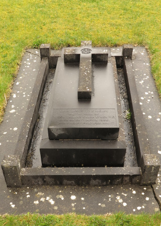 Final resting place and Gravestone of Fr Tom Crean-Lynch at Lackagh Church. | © Gerry Costello Photography
