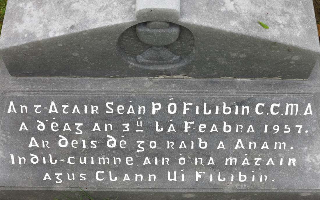Gravestone inscription for Fr John Philbin - © Gerry Costello Photography