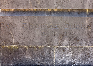 Gravestone inscription of Fr Thomas Burke   © Gerry Costello Photography