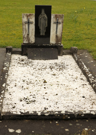 The final resting place and Headstone of Fr. Peter Loftus at Lackagh Church | © Gerry Costello Photography