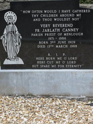 Final resting place and Headstone of Fr Jarlath Canney in Menlough Church Grounds | © Gerry Costello Photography