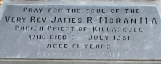 The inscription on the gravestone of Fr. James Moran at Menlough | © Gerry Costello Photography