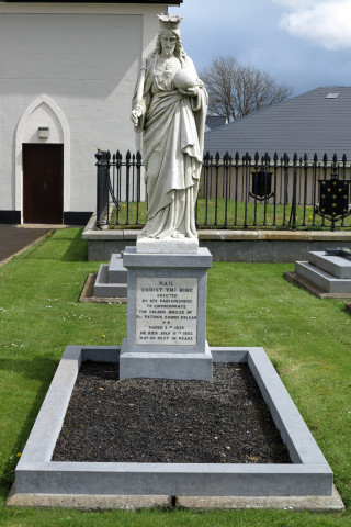 Final resting place and headstone of Fr Patrick Colgan in the grounds of Kilkerrin Church | © Gerry Costello Photography