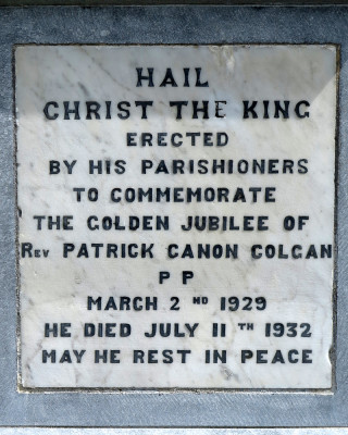 Inscription from the Headstone of Fr Patrick Colgan in Kilkerrin Church grounds | © Gerry Costello Photography
