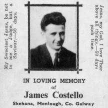 James Costello Skehana Publican