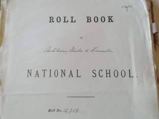 Front page of Roll Book, Ashtown National School | B. Doherty