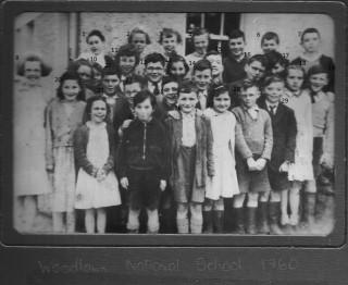 Group of children in front of school 1960 Woodlawn | Courtesy of Tom Seale